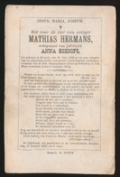 MATHIAS HERMANS  HASSELT  1798   1878 - Décès