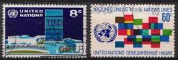 Nations Unies New-York 1971 Mi.Nr: 238-239 Freimarken  Oblitèré / Used / Gebruikt - Oblitérés