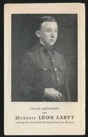 LEON LABYT  GEFUSILLEERD SPIONAGE - SERAING 1924 MOEDIG DE DOOD INGEGAAN 18 FEB 1944 BRUSSEL  2 SCANS - Décès