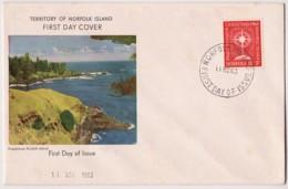 Norfolk Island 1963 Christmas Unaddressed FDC - Norfolk Island