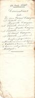 Vieux Papier Du Béarn, 1846, Cabidos, St-Médard, Montagut, Accord Entre Les Frères Camgran Lassalle - Documents Historiques