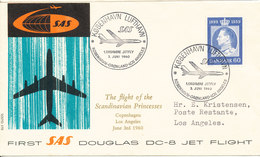 Denmark First SAS DC-8 Jet Flight Copenhagen - Greenland - Los Angeles 3-6-1960 - Brieven En Documenten