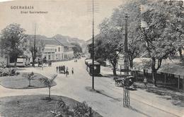 Einde Societeitstraat Soerabaja INDONESIA - Tram - Indonésie