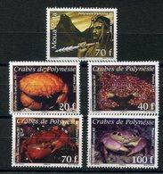 RC 12693 POLYNÉSIE N° 934 + 935 / 938 LÉGENDE ET CRABES NEUF ** - Polynésie Française