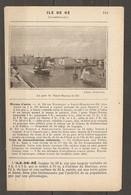1923 ILE DE RE MOYENS D'ACCES  BATEAUX A VAPEUR - VOIE ETROITE DE LA CIE Ch. DE FER ECONOMIQUE DES CHARENTES - Ferrovie