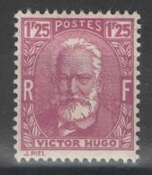 France - YT 293 * MH - TB - 1933 - Victor Hugo - Neufs