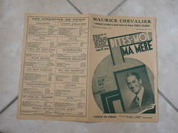 Dites Moi Ma Mère (Maurice Chevalier)-(Paroles A. Willemetz)-(Musique M. Yvain) Partition 1927 - Liederbücher