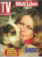 "TV MAGAZINE  N° 15955  "" BRIGITTE BARDOT "" -   MAI  1989 - Television"