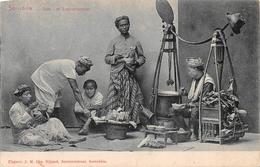 Soto Of Soepverkoper BeschrijvingSurabaya INDONESIA - Indonésie