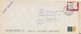 Venezuela Air Mail Cover Sent To Switzerland 1968 Single Stamped - Venezuela