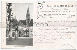 60 - Crepy En Valois - Eglise Saint Denis - Publicité - M. Masseau - Pharmacien - Crepy En Valois