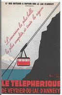 Le Telephérique De VEYRIER DU LAC D'ANNECY - (carte Publicitaire) - Veyrier