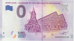 Billet Touristique 0 Euro Souvenir France 14 Honfleur 2019-1 N°UENX000238 - EURO