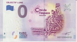 Billet Touristique 0 Euro Souvenir France 31 Toulouse Cité Espace Objectif Lune 2019-3 N°UEFC004010 - Essais Privés / Non-officiels