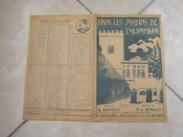 Dans Les Jardins De L'Alhambra-(Paroles E. Dumont)-(Musique F.L. Bénech) Partition 1923 - Liederbücher