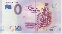 Billet Touristique 0 Euro Souvenir France 31 Toulouse Cité Espace Objectif Lune 2019-3 N°UEFC004011 - Essais Privés / Non-officiels