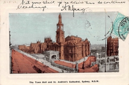 The Town Hall And St Andrew's Cathedral SYDNEY AUSTRALIA - Sydney