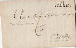 Lac De Griffe 91/ BRUGES/ 16 Prairial An 10-> Ostende + Port 2 ( Dec) - 1794-1814 (French Period)