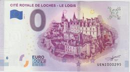 Billet Touristique 0 Euro Souvenir France 37 Loches Logis 2019-1 N°UENZ000295 - Essais Privés / Non-officiels