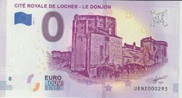 Billet Touristique 0 Euro Souvenir France 37 Loches Donjon 2019-2 N°UENZ000293 - Essais Privés / Non-officiels