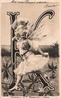 """CPA - FANTAISIE - Illustration ALPHABET - Lettre """" K """" - Photo REUTLINGER - Autres"""