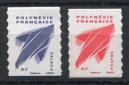 RC 12704 POLYNÉSIE N° 976 / 977 SERIE COURANTE AUTOADHÉSIFS NEUF ** - Französisch-Polynesien