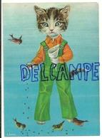 Chat Humanisé En Salopette, Nourrit Les Oiseaux - Chats