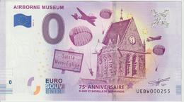 Billet Touristique 0 Euro Souvenir France 50 Airborne Museum - Sainte Mère Eglise 2019-3 N°UEBW000255 - EURO