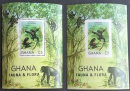 Ghana  1982 FAUNA FLORA  S/S Perf .and Imperf. - Ghana (1957-...)