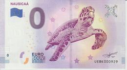 Billet Touristique 0 Euro Souvenir France 62 Nausicaa 2019-4 N°UEBK000929 - Essais Privés / Non-officiels