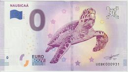 Billet Touristique 0 Euro Souvenir France 62 Nausicaa 2019-4 N°UEBK000931 - EURO