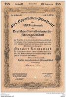 Hypotheken-Pfandbrief  100 Reichsmark - Em.13 , Serie 21 - Li.F Nr. 07263 - Bank & Versicherung