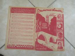 Comme Une Chanson -(Paroles J.H. Tranchant)-(Musique J. Tranchant) Partition 1949 - Liederbücher