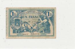 BILLET CHAMBRE DE COMMERCE - DE BONE UN FRANC  1918- - Chamber Of Commerce