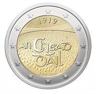 IRELAND 2 EURO 2019 - Dáil Éireann (Irish Parliament) - UNC Quality - Ireland