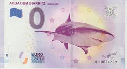 Billet Touristique 0 Euro Souvenir France 64 Aquarium Biarritz 2019-4 N°UEEU004729 - Essais Privés / Non-officiels