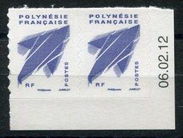 RC 12709 POLYNÉSIE N° 976 PAIRE PROVENANT DU CARNET DATE DU 06.02.12 NEUF ** - Polynésie Française