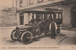MONTLIGNON - TRES BEAU PREMIER PLAN DE L'OMNIBUS AUTOMOBILE DESSERVANT EAUBONNE,MARGENCY,MONTLIGNON - BELLE ANIMATION - - Montlignon