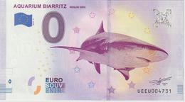 Billet Touristique 0 Euro Souvenir France 64 Aquarium Biarritz 2019-4 N°UEEU004731 - Essais Privés / Non-officiels