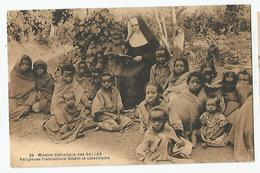 éthiopie Harar 1929 Mission Catholique Des Gallas Religieuse Franciscaine Cachet Dos Ed St Lazare Dirré Daoué - Ethiopia