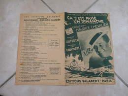 Ça S'est Passé Un Dimanche ( Maurice Chevalier)-(Paroles J.Boyer)-(Musique G. Van Parys) Partition 1939 - Liederbücher