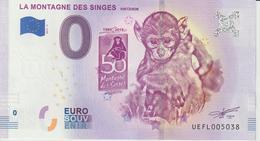 Billet Touristique 0 Euro Souvenir France 67 La Montagne Des Singes 2019-4 N°UEFL005038 - Essais Privés / Non-officiels
