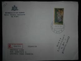 San Marin , Lettre Recommandee De 1973 Pour Castres - Lettres & Documents