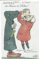 COMBES-BAISER DE JUDAS-GENERAL ANDRE-reproduction Moderne Caricature Satirique-AFFAIRE DES FICHES-FRANC-MACONNERIE - Satiriques