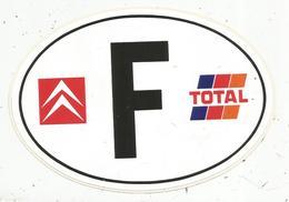 Autocollant ,  Automobile  CITROEN ,  TOTAL , F , 170  X 120 Mm ,  Frais Fr 1.45 E - Autocollants