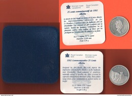 Canada 25 Cents 1992 ALBERTA Silver - Canada