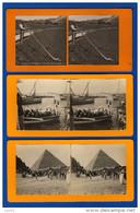 28 PHOTOS STEREOSCOPIQUES, N&b, Sépia,couleurs,photos Et Papier, Support Carton : Canot, Bac, Métiers, Scènes Diverses.. - Stereoscopic