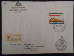 San Marin,  Lettre Recommandee De 1965 Pour Castres - Lettres & Documents