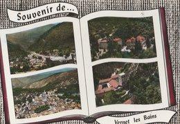 VERNET-LES-BAINS (66). Souvenir De ... Forme Livre 4 Vues: Vue Générale,Casteil, Hôtel Du Portugal - Francia