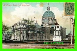 MONTRÉAL, QUEBEC - CATHÉDRALE ST JAMES CATHEDRAL - TRAVEL IN 1905 - VALENTINE & SONS LTD - - Montreal